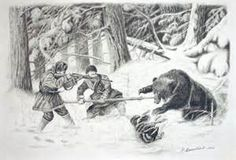 drawings of hunting