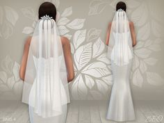 Lana CC Finds - Wedding dress 02 & Veil by BEO