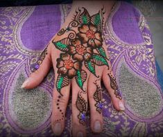 Latest Glitter Henna Hehndi For Hand
