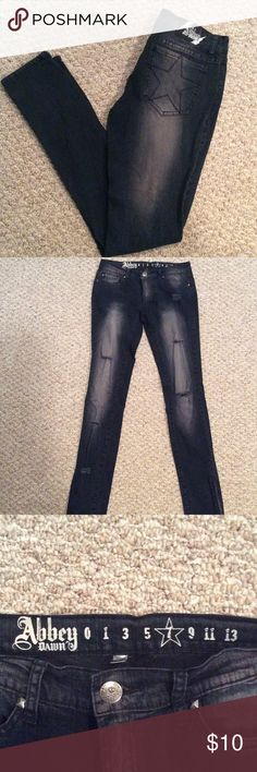 Worn look jeans Excellent used condition! Pet free / smoke free home 💸 make me an offer💸 abbey dawn  Jeans Skinny