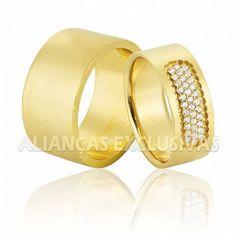 Aliança de Casamento e Noivado em ouro 18k 0,750