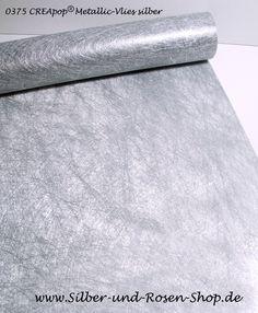 CREApop Metallic-Vlies silber 25 cm breit online bestellen