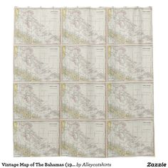 Vintage Map of The Bahamas (1901) Shower Curtain