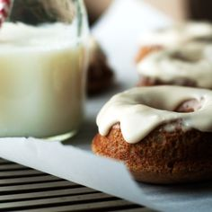 Baked Chai Donuts with Bourbon Glaze