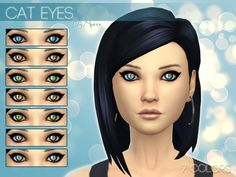 The Sims Resource: Cat Eyes (Non-Default) – 7 Colors by Aveira • Sims 4 Downloads