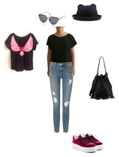 """One tee, more looks! #MolaBird t-shirt for a park walk"" by teesuptshirts on Polyvore featuring Kenzo, Loeffler Randall, Frame Denim and MolaBird"