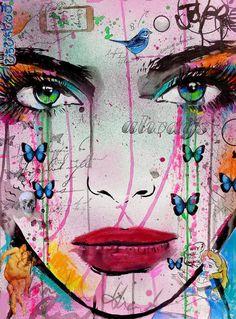 "Saatchi Art Artist LOUI JOVER; Drawing, ""past lives...."" #art"