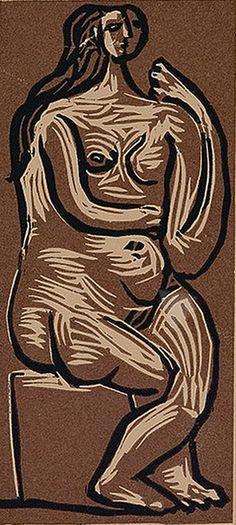 Pablo Picasso - Femme Nue Assise, 1962