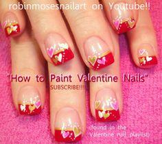 Nail-art by Robin Moses: valentine nails