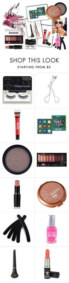 """""""10 Dollar Beauty - Drugstore Beauty"""" by freckled-gypsy ❤ liked on Polyvore featuring Ardell, jane, BHCosmetics, Max Factor, Wet n Wild, Manic Panic NYC and 10dollarbeauty"""
