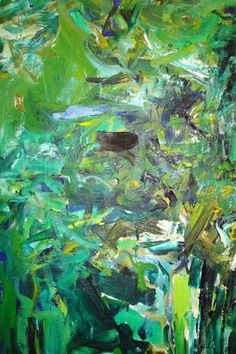 spring speaks in malachite and moss -- whispers sage, shouts chartreuse. its almost-forgotten jade fingers beckon summer blues with pea-shoot promises. Detail from Joan Mitchell.