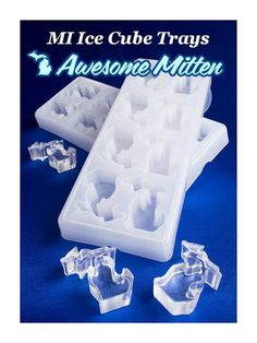 Keep those beverages chilled this summer with some ice cubes shaped like the state of Michigan! The MI-Ice Trays can also be used as a mold for ornaments, or fill them up with your favorite pop.