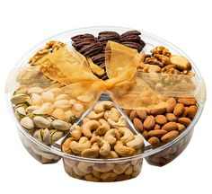 Freshly Roasted Nuts Gift Basket, Nut Gift Tray 6-section Medium Gift Tray >>> See this awesome image  : Fresh Groceries