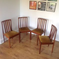 4x vintage retro #chairs #1970s meredew #danish style teak mid century dining,  View more on the LINK: http://www.zeppy.io/product/gb/2/182008665556/