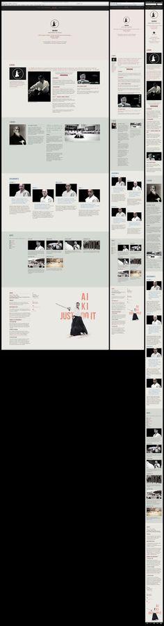 Suki Dojo Website One Page Responsive by Arnaud Beelen, via Behance. http://www.sukidojo.be/