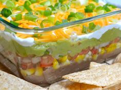 seven layer dip - made this without the jalepeños- a huge hit!