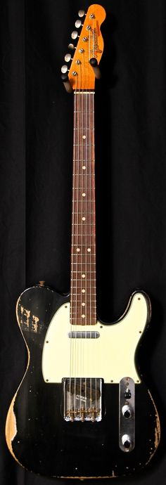 Fender Custom Shop L-Series '64 Super Heavy Relic Telecaster Black - Jesse Gago Guitars