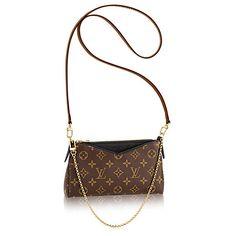 LOUIS VUITTON Pallas Clutch. #louisvuitton #bags #leather #clutch #canvas #metallic #hand bags #