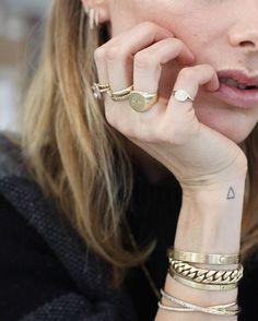"ANINE BING on Instagram: ""Gold & Diamonds❥ #aninebingjewelry #cartier www.aninebing.com #14k #gold"""