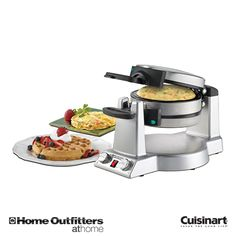 Breakfast Central Waffle and Omelette Maker Omelettes, Specialty Appliances, Small Appliances, Log Home Kitchens, Gift Maker, Belgian Waffles, Christmas Brunch, Xmas, Kitchen Cart