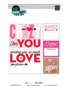 Valentine's POCKET PAGES™ Free Printable 01 | me & my BIG ideas