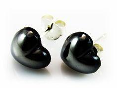 4cee33e21596  Pendientes corazón de Plata y cristal gris. Aquí te ofrecemos un original  diseño por