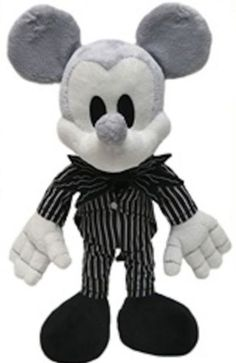 Disney Park Mickey Mouse as Jack Skellington Plush Doll NEW Nightmare Before Christmas