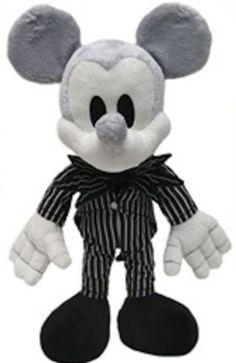 Disney Park Mickey Mouse as Jack Skellington Plush Doll NEW Nightmare Before Christmas