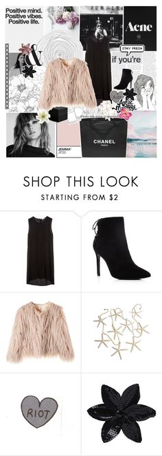 """""""IS IT COOL THAT I SAID ALL THAT"""" by s-erene ❤ liked on Polyvore featuring GET LOST, Equipment, Charles David, Shay, MONICA ROSE, PAM, Chanel, ASOS, Clips and sariahsoutfits"""