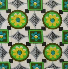1960s vintage cotton curtain fabric