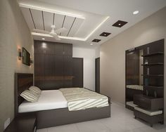 Bedroom Designs Ceiling creative false ceiling design for bedrooms with drywall led lights