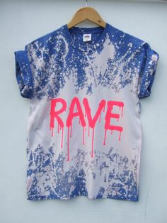 54fb77b1 Acid Wash Grunge Rave Pink Tie Dye Bleached Festival Dripping Letters  Tumblr T Shirt, Psychedelic Hipster Festival Blogger Tee - Size Medium