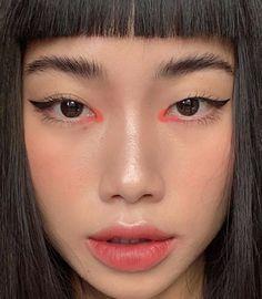 Edgy Makeup, Makeup Eye Looks, Eye Makeup Art, Asian Makeup, Cute Makeup, Pretty Makeup, Beauty Makeup, Hair Makeup, Korean Natural Makeup