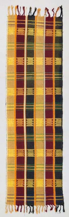 Africa | Wrapper panel from the Yoruba people of Nigeria | 20th century | Cotton; woven.