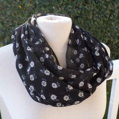 Snood écharpe tube tour du cou foulard femme gris noir