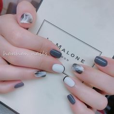 Basic Nails, Simple Nails, Stylish Nails, Trendy Nails, Nail Manicure, Toe Nails, Ambre Nails, Korean Nail Art, Minimalist Nails