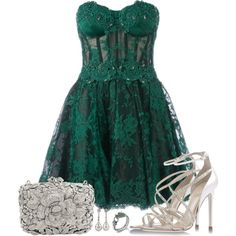 Fabulous Slytherin* by claudia-gomes on Polyvore featuring moda, Zuhair Murad, René Caovilla and John Hardy