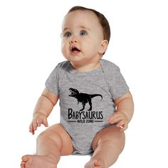 Babysaurus Heather baby Bodysuit or Kids Shirt by bodysuitsbynany on Etsy