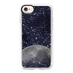 Mystic Galaxy Constellation Moon Stars and Cosmic Space - iPhone 7... ($40) ❤ liked on Polyvore featuring accessories, tech accessories, iphone, phone cases, phones, iphone case, apple iphone case, clear iphone case, iphone cover case and iphone cases