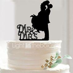 Wedding Party Supplies Fondant Cake Decorating Tools Personalized Customized Acrylic Cake Topper Mr & Mrs 2017 - $2.99