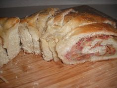 La Buona Cucina: Italian Stuffed Bread (Casatiello) Use italian sausage and olives.