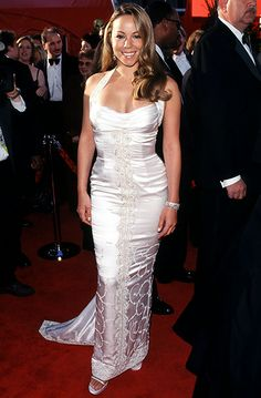 Carey's white satin gown wasn't her best red carpet look ever, but it certainly wasn't her worst .