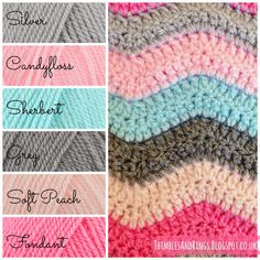 Thimbles and Rings: Olivia's Ripple Blanket - Stylecraft DK colours