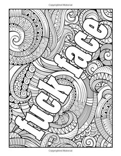 10 best Swear Words Coloring Pages images on Pinterest in 10 ...