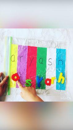 Stem Education Activities, Name Activities Preschool, Toddler Fine Motor Activities, Preschool Painting, Prek Literacy, Creative Activities For Kids, Kids Learning Activities, Alphabet Activities, Sensory Activities