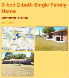 3-bed 2-bath Single Family Home in Sumterville, Florida ►$207,900 #PropertyForSale #RealEstate #Florida http://florida-magic.com/properties/7137-single-family-home-for-sale-in-sumterville-florida-with-3-bedroom-2-bathroom