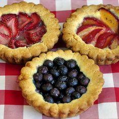 Easy Summer Fruit Cookie Tarts