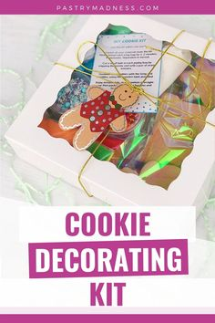 It's a great edible family gift that can be made for any occasion and will bring everyone together for a fun and tasty activity! Family Gifts, Cookie Decorating, Baking Recipes, Madness, Icing, Tasty, Kit, Activities, Cookies
