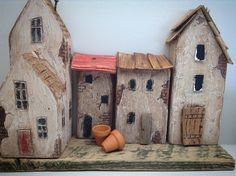 Little wooden shabby village