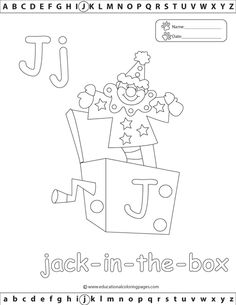Alphabet Coloring Pages Set 2 | Coloring Pages J
